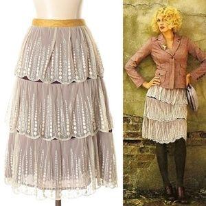 Dresses & Skirts - Odille Fern Layered Lace Skirt 6 176P27